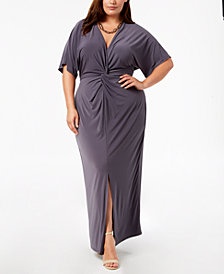 Love Squared Trendy Plus Size Twist-Front Maxi Dress