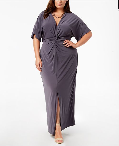 Love Squared Trendy Plus Size Twist-Front Maxi Dress & Reviews ...