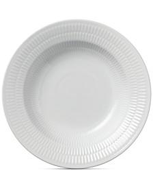 White Fluted Rim Soup Bowl