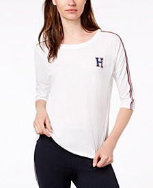 Tommy Hilfiger Sport Logo Elbow-Sleeve T-Shirt, Created for Macy's