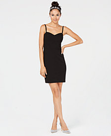 City Studios Juniors' Strappy Sweetheart-Neck Dress