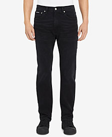 Calvin Klein Jeans Men's Burlington Slim-Fit Stretch Black Jeans