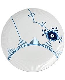Blue Fluted Mega Coupe Dinner Plate