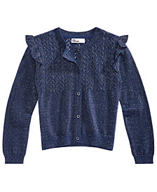 Epic Threads Toddler Girls Ruffle-Trim Metallic Cardigan, Created for Macy's