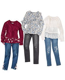 Epic Threads Big Girls Tops & Embellished Jeans, Created for Macy's