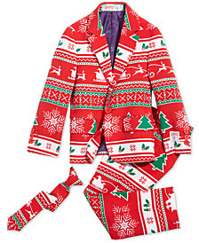 OppoSuits Little Boys 3-Pc. Winter Wonderland Suit & Tie Set