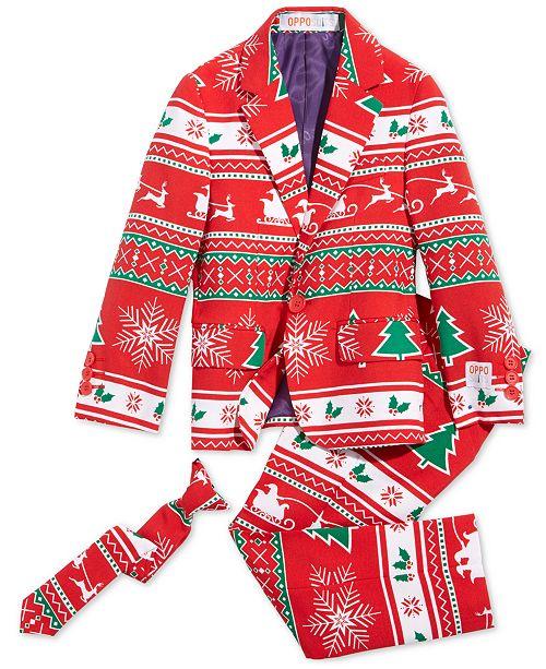 OppoSuits Little Boys 3-Pc. Winter Wonderland Suit & Tie Set