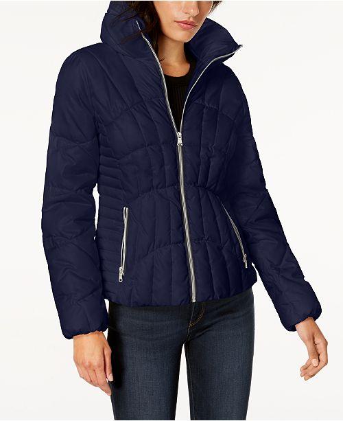84251476f6500 GUESS Stand-Collar Puffer Coat   Reviews - Coats - Women - Macy s