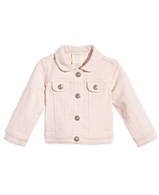 First Impressions Baby Girls Pink Denim Jacket, Created for Macy's