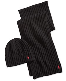 Men's Classic Ribbed Hat & Scarf Gift Set