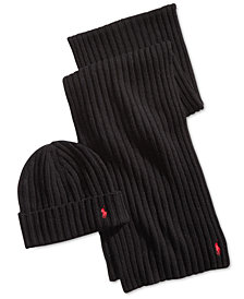 Polo Ralph Lauren Men's Classic Ribbed Hat & Glove Gift Set