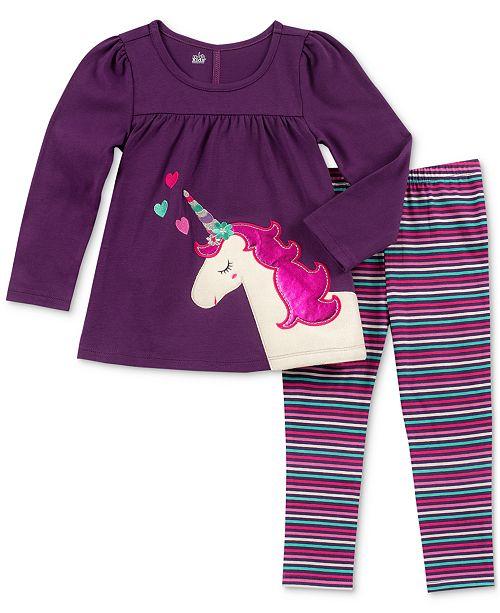 65c135990 ... Leggings Set; Kids Headquarters Little Girls 2-Pc. Unicorn Tunic &  Leggings ...