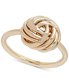 Love Knot Ring in 14k Gold