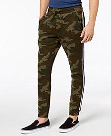 American Rag Men's Varsity Tipped Camo Jogger Pants, Created for Macy's