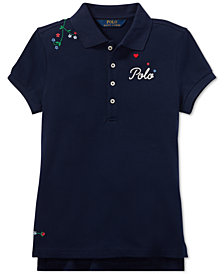 Polo Ralph Lauren Big Girls Embroidered Polo