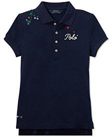 Polo Ralph Lauren Big Girls Embroidered Polo