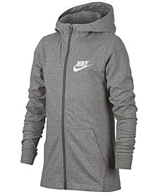 Nike Big Boys Full-Zip Graphic-Print Cotton Hoodie