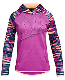 Under Armour Big Girls Armour Fleece Logo Hoodie