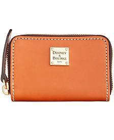 Dooney & Bourke Beacon Zip Around Smooth Leather Credit Card Case