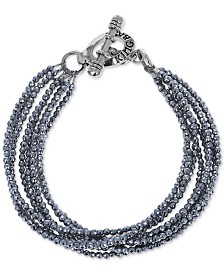 King Baby Women's Hematite Multi-Strand Bracelet in Sterling Silver