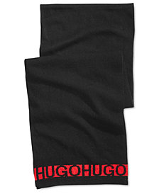 Hugo Boss Men's Knit Logo Scarf