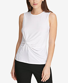 DKNY Side-Knot Top