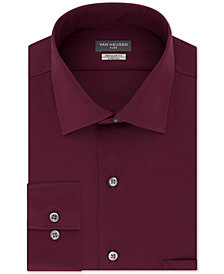 Van Heusen Men's Classic-Fit Wrinkle Free Flex Collar Stretch Solid Dress Shirt
