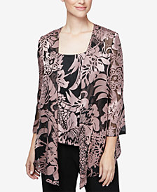 Alex Evenings Printed Jacket & Top Set