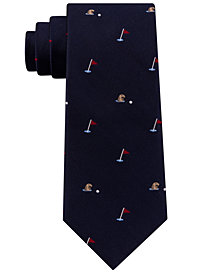 Club Room Men's Gopher & Golf Silk Tie, Created for Macy's