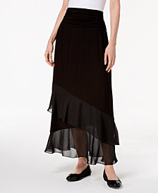 JM Collection Layered Chiffon Maxi Skirt, Created for Macy's
