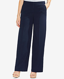 Vince Camuto Soft Pinstripe Wide-Leg Pants