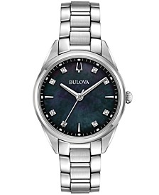 Women's Sutton Diamond-Accent Stainless Steel Bracelet Watch 32mm