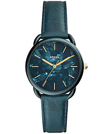 Fossil Women's Tailor Teal Leather Strap Watch 35mm