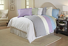 Pointehaven Printed Duvet Sets, 300 Thread Count Cotton Sateen