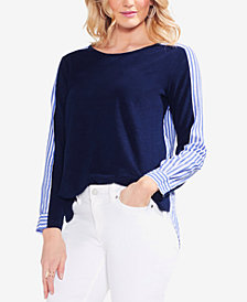 Vince Camuto Cotton Colorblocked Top