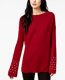 MICHAEL Michael Kors Studded-Cuff Sweater