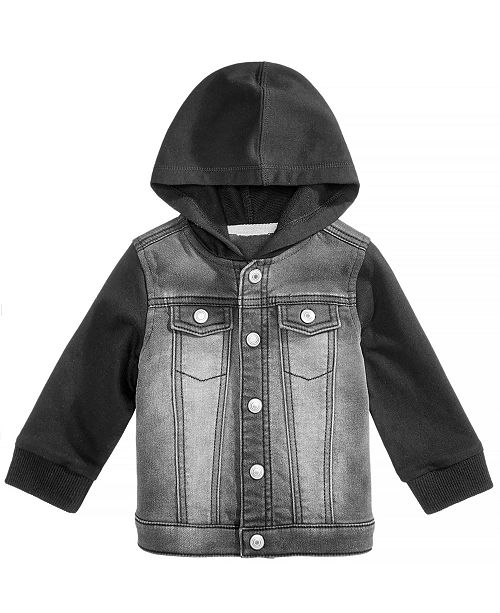 2951bf623ec1 First Impressions Baby Boys Layered-Look Hooded Denim Jacket ...
