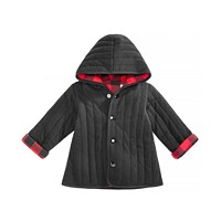 First Impressions Baby Boys Buffalo Plaid Reversible Cotton Jacket (Black/Red)