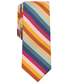 Bar III Men's Signature Stripe Skinny Tie, Created for Macy's
