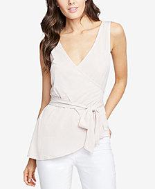 RACHEL Rachel Roy Crossover Wrap Top, Created for Macy's