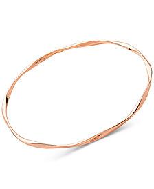 Polished Twist Bangle Bracelet in 14k Rose Gold