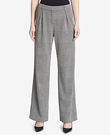 Calvin Klein Pleated Wide-Leg Trousers