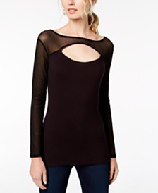 I.N.C. Cutout Illusion Top, Created for Macy's