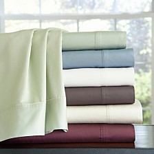 Pointehaven Solid Sheet Sets, 400 Thread Count Cotton Sateen