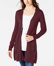 Maison Jules Long Open-Front Jersey Cardigan, Created for Macy's