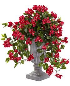 Bougainvillea Flowering UV-Resistant Indoor/Outdoor Artificial Plant in Decorative Urn