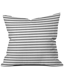 Deny Designs Little Arrow Design Co Stripes in Grey Throw Pillow