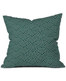 Deny Designs Holli Zollinger Mosaic Scallop Marine Throw Pillow
