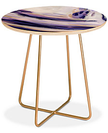 Deny Designs Laura Fedorowicz Bravery Looks Good on You Round Side Table