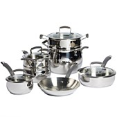 Epicurious 11 Pc Stainless Steel Cookware Set